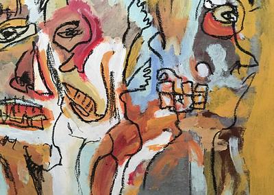 LAWRENCE berlin mitte funun gallery galerie contemporary art zeitgenössische kunst refugee artists painter photograph fotograf maler malerei gemälde Luvuro Kakatula